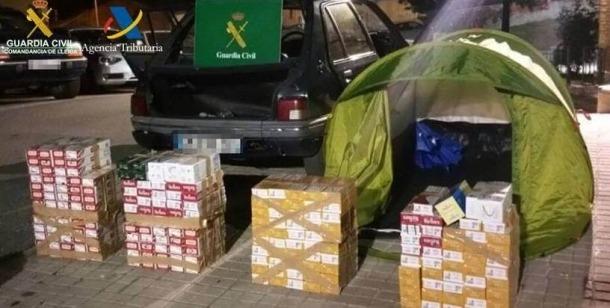 Decomís de 2.900 paquets de tabac valorats en 13.739 euros