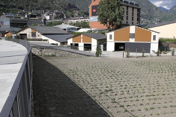 Els terrenys de Borda Nova on es preveia construir un parc aquàtic cobert.