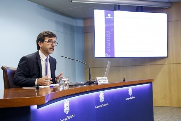 El ministre portaveu, Jordi Cinca, en la seva compareixença d'ahir.