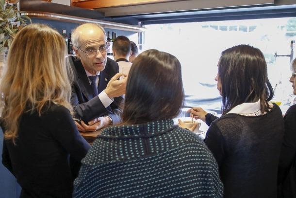 El cap de Govern, Antoni Martí, va compartir ahir el tradicional esmorzar de Nadal amb els mitjans de comunicació.