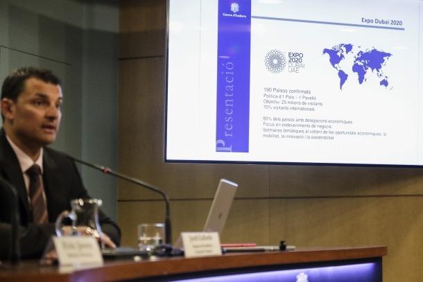 El ministre de Presidència, Economia i Empresa, Jordi Gallardo, va detallar ahir la participació andorrana a l'Exposició Universal.