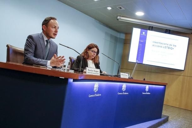 Espot i Porras van presentar ahir les accions realitzades des del 2016 en relació amb les persones LGTBIQ.