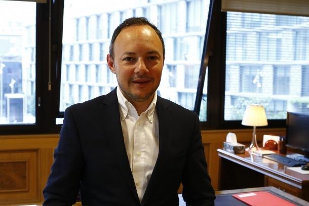 El cap de Govern, Xavier Espot, al seu despatx de l'edifici administratiu.