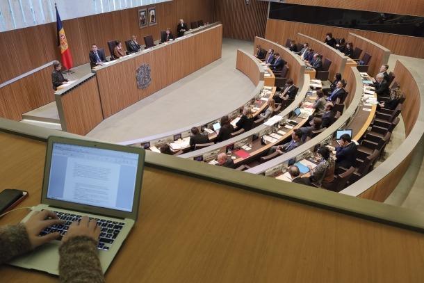 Un instant de la sessió de Consell General, ahir a la tarda.
