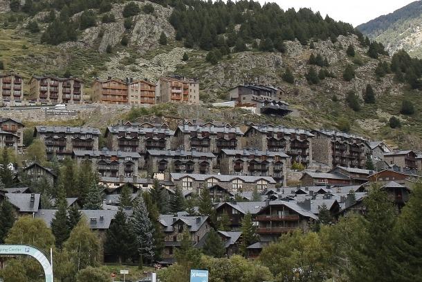 Una vista del poble del Tarter, on hi ha una quantitat important d'apartaments turístics
