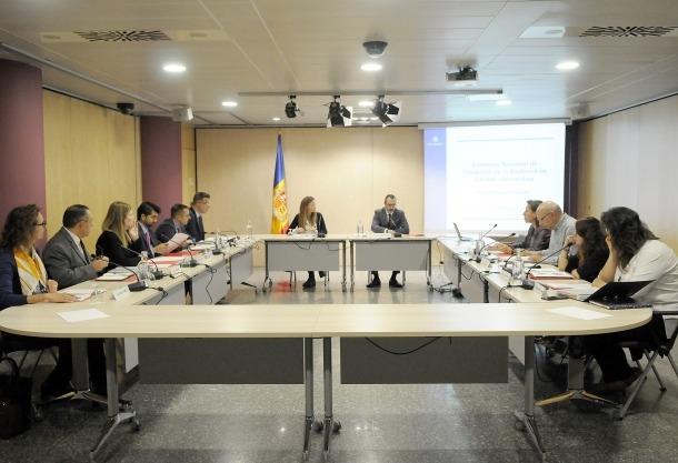 Un moment de la reunió de la Comissió nacional de prevenció de la violència de gènere i domèstica.