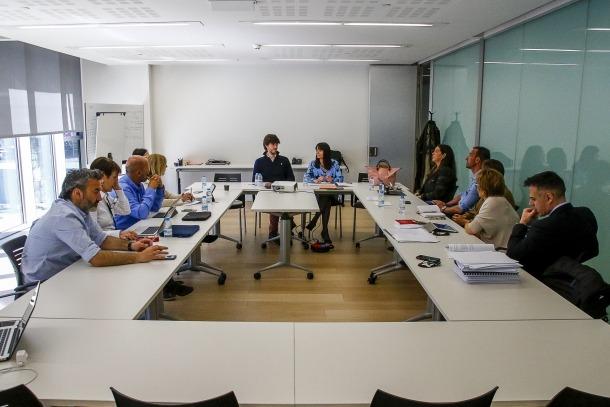 Un moment de la reunió d'ahir del grup parlamentari demòcrata.