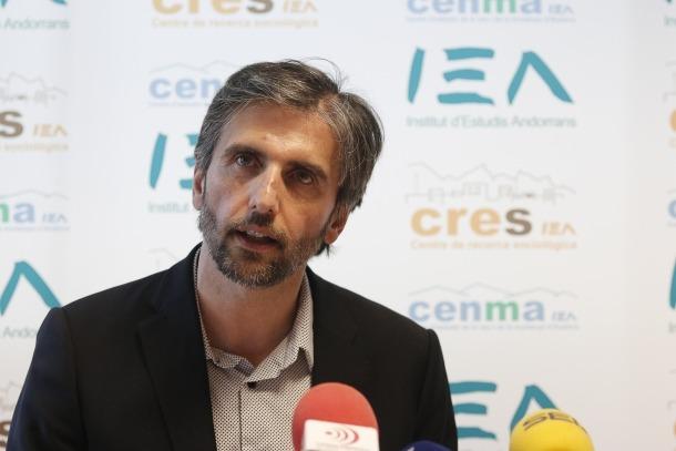El director del CRES, Joan Micó, en una compareixença.