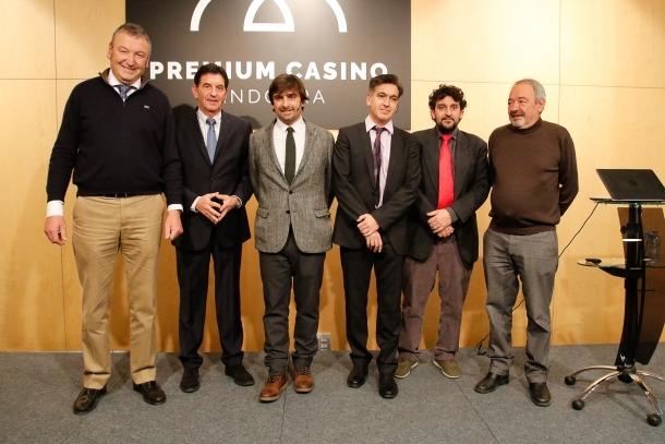 Els responsables de Lleure 3D en la presentació del seu projecte de casino.