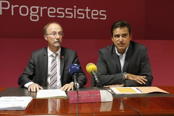 Víctor Naudi i David Pérez en una compareixença anterior.