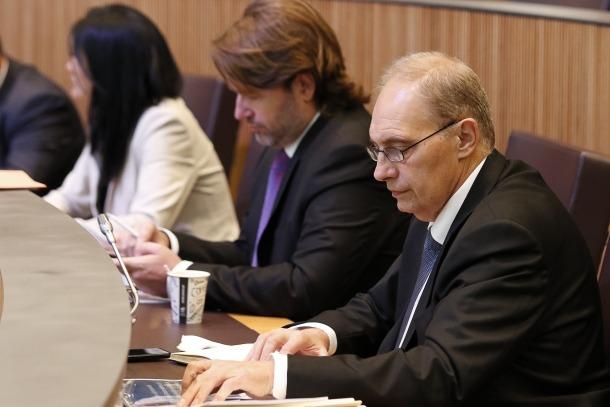 Els consellers generals d'Unió Laurediana-Independents de la Massana, impulsors de la tercera via, en una sessió parlamentària.