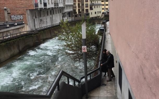 Aleix i Bofarull van visitar ahir la zona del passeig del riu.