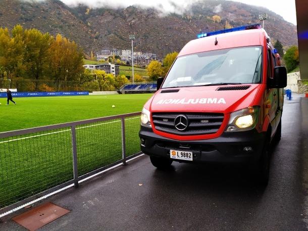 Una ambulància del cos de bombers.