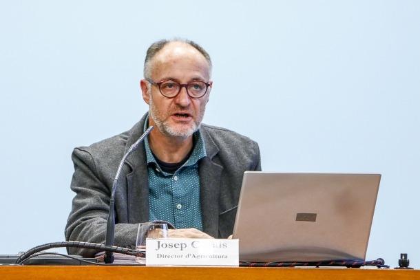 El director d'Agricultura, Josep Casals, va explicar el nou sistema d'informació del RAC.