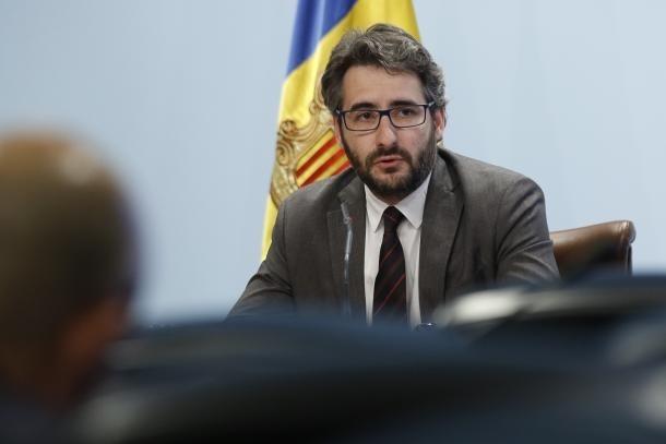 El ministre Èric Jover en una compareixença.
