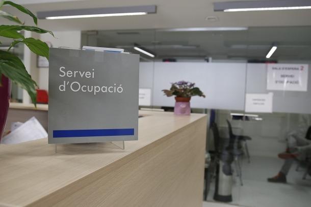 El Servei d'Ocupació té registrats un 9,5% més d'aturats que ara fa un any.
