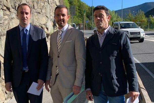 David Baró, Jordi Torres i Josep Àngel Mortés ahir a la CG-3.