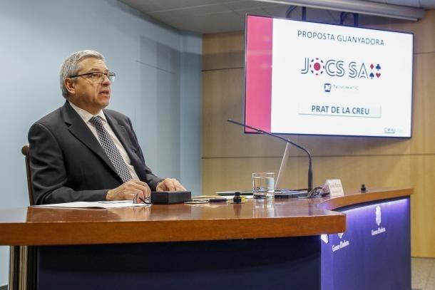 El director del Consell Regulador Andorrà del Joc, Xavier Bardina, va ser l'encarregat d'anunciar el guanyador del concurs.