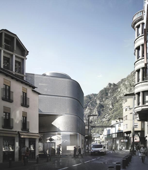 Imatge de l'edifici projectat per Lleure 3D per acollir el casino.