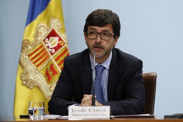 El ministre portaveu, Jordi Cinca, en la compareixença posterior al consell de ministres.