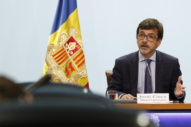 El portaveu de l'executiu, Jordi Cinca, en la compareixença d'ahir posterior al consell de ministres.