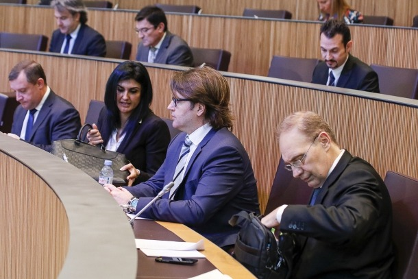 Els consellers d'Unió Laurediana i Indepedents de la Massana en una sessió del Consell General.