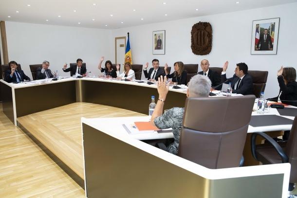 Un moment de la sessió de consell de comú d'ahir.
