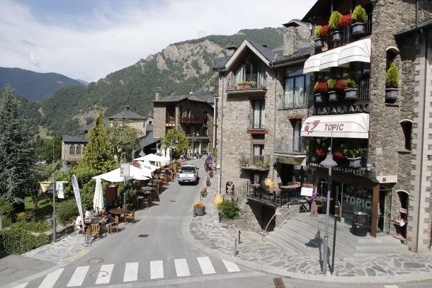 El carrer Major d'Ordino, on van succeir els fets.