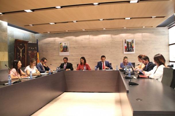 Un moment del consell de Comú d'Ordino celebrat ahir.