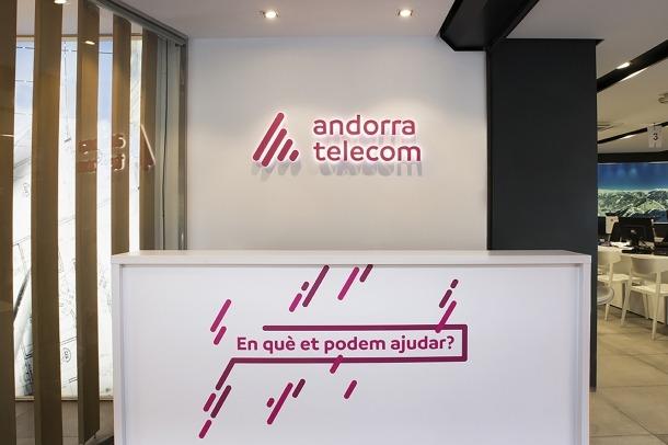 L'agència comercial d'Andorra Telecom, ubicada al carrer Prat de la Creu de la capital.