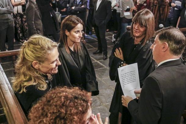 Rodríguez i Solanes en el jurament per renovar el càrrec de batlles.