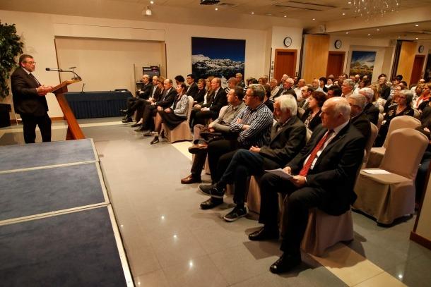 Jean-Michel Rascagneres, president de la CASS, va presentar la conferència de Pieters, ahir.