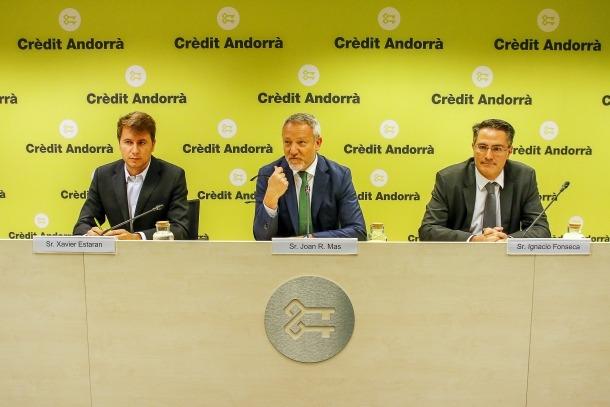 Un moment de la presentació de l'Scale Lab Andorra de Crèdit Andorrà, el primer programa d'hiperacceleració empresarial.
