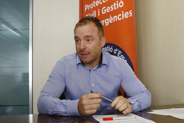 Cristian Pons és el director de Protecció Civil.