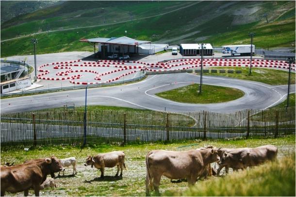 Imatge del kàrting al circuit del Cap del Port.