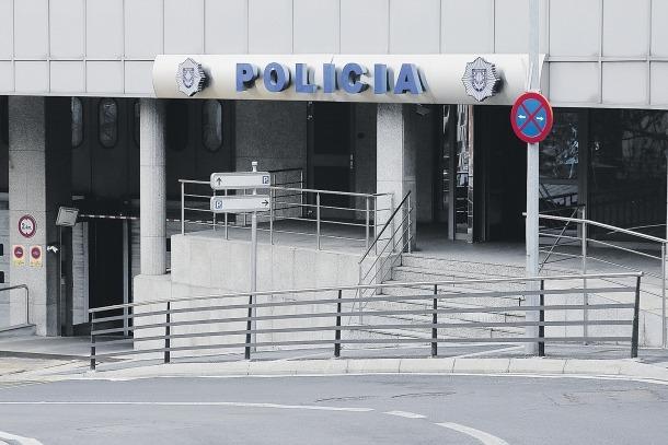 El despatx de la policia.