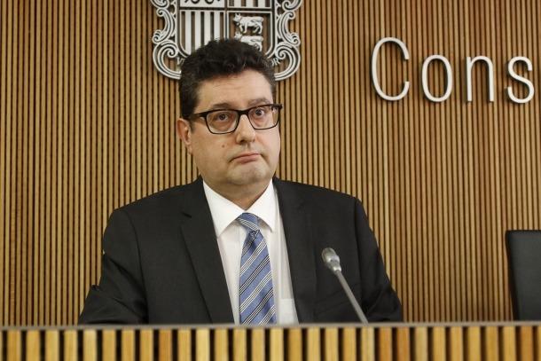 El cap de la Unitat d'Intel·ligència Financera, Carles Fiñana, en una compareixença anterior.