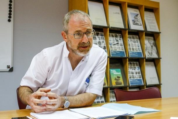 El cap del servei d'urgències, Marcos Gutiérrez.