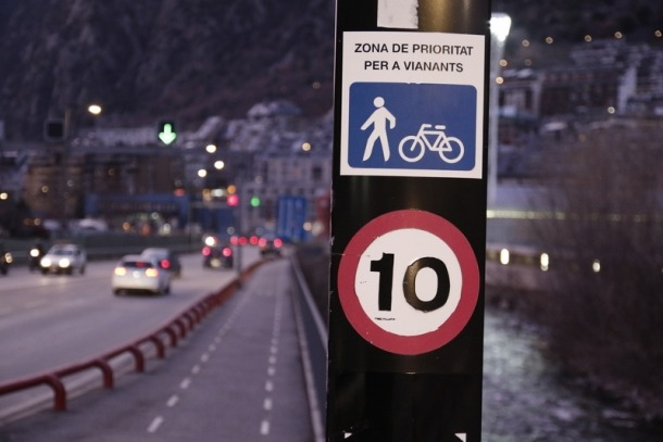 Andorra la Vella tindrà al setembre fins a vuit quilòmetres de carril bici