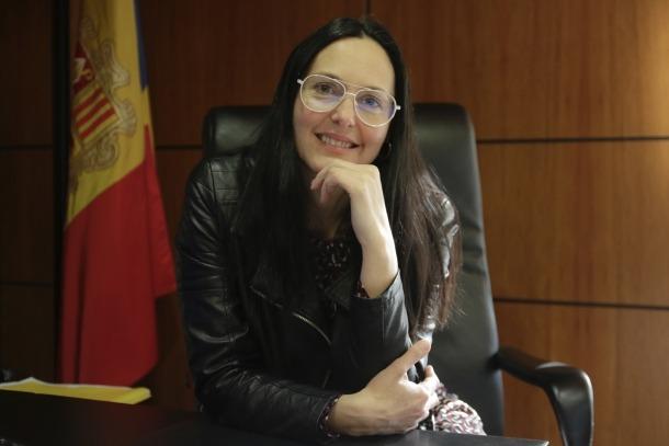 La cònsol major de la Massana, Olga Molné.