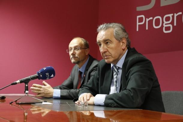 Naudi i Bartumeu en una roda de premsa anterior.