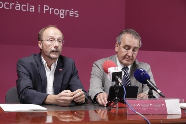 SDP critica que l'acord institucional tan sols busqui el suport del PS