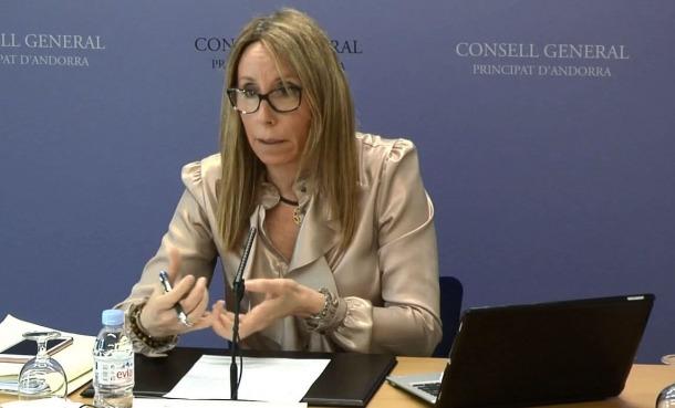 La consellera general independent, Sílvia Bonet, va presentar ahir les esmenes a la proposició de llei de relacions laborals.