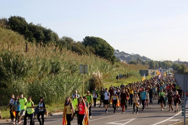 Una de les marxes per la llibertat que confluiran avui a Barcelona.