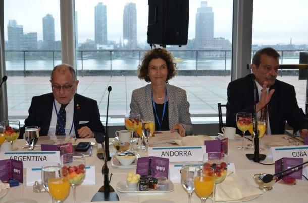 Maria Ubach en l'esmorzar de treball dels ministres d'Exteriors iberoamericans.