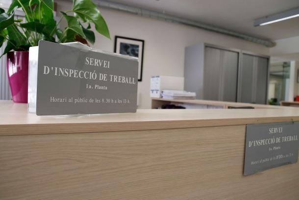 El departament d'Inspecció de Treball.