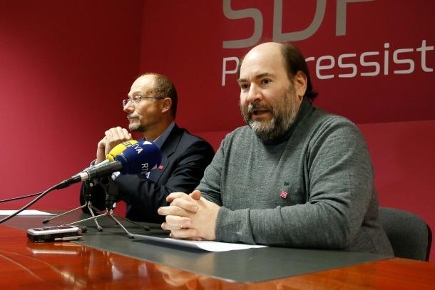Víctor Naudi i Joan Marc Miralles en una compareixença anterior.