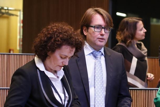 Els consellers generals massanencs i membres de CC Judith Pallarés i Carles Naudi.