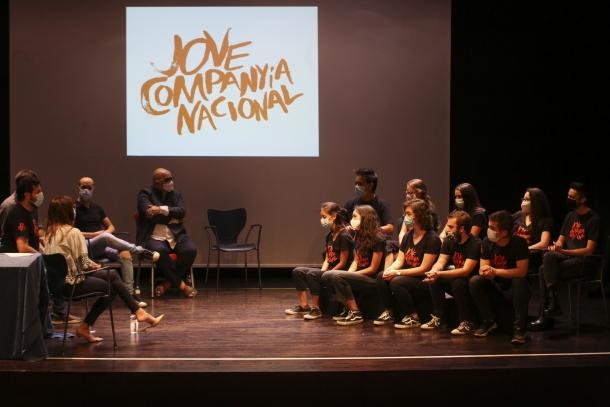 Un instant de la presentació de la Jove Companyia Nacional d'Andorra, ahir, a les Fontetes de la Massana.