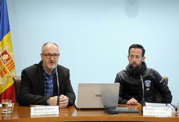 Casals i Teixidó en la roda de premsa d'ahir.
